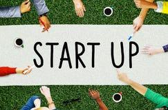 Startup begrepp för inspiration för idéer för kreativitet för affärsplan Arkivfoto
