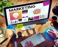 Startup begrepp för vision för märkesmarknadsföring arkivfoto
