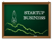 Startup business background design Stock Photography