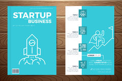 Startup business book cover Stock Image