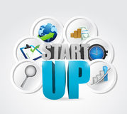 Startup business concept illustration Stock Photos