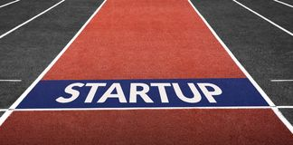 Startup Business Concept, Present on Start Line Stock Photography