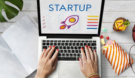 Startup Business Entrepreneurship Launch Concept.  Royalty Free Stock Photos