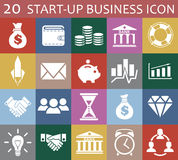 20 startup business icon. 20 startup business vector icon  on an flat background Stock Photos