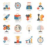 Startup business icon vector start up businessplanning with success strategy or innovation idea illustration set of. Multitasking and brainstorm signs isolated royalty free illustration