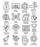 Startup business icons in line style Stock Photo