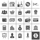 Startup business icons set - Simplus series Royalty Free Stock Image