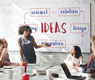 Startup Business Ideas Plan Concept royalty free stock photography