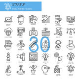 Startup business and launch , thin line icons set Royalty Free Stock Image