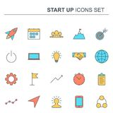 Startup and business line icons set. Vector design. Startup and business line icons set. Elements collection for your design. Vector pictograms Royalty Free Stock Photography
