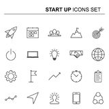 Startup and business line icons set. Vector design. Startup and business line icons set. Elements collection for your design. Vector pictograms Stock Photo