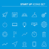 Startup and business line icons set. Vector design. Startup and business line icons set. Elements collection for your design. Vector pictograms Stock Photography