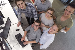 Startup business people group working as team to find solution Stock Images