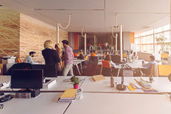 Startup business people group working everyday job at modern office.  Royalty Free Stock Images