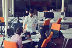 Startup business people group working everyday job at modern office Royalty Free Stock Image