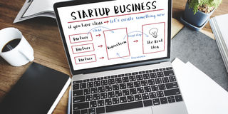 Startup Business Plan Brainstorming Graphic Concept Stock Photo