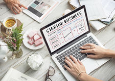 Startup Business Plan Brainstorming Graphic Concept Royalty Free Stock Photos
