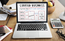 Startup Business Plan Brainstorming Graphic Concept Royalty Free Stock Images