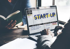 Startup Business Plan New Business Launch Concept Royalty Free Stock Images