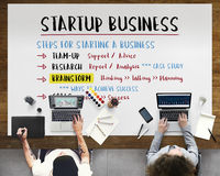 Startup Business Plan Steps Graphic Concept royalty free stock images
