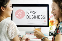 Startup Business Spaceship Goals Launch Concept.  Royalty Free Stock Photo