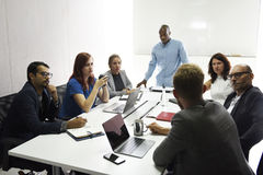 Startup Business Team Brainstorming on  Meeting Workshop. Startup Business Team Brainstorming on Meeting Workshop Royalty Free Stock Photos