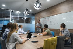 Startup business team on meeting Stock Photography