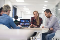 Startup business team on meeting at modern office Royalty Free Stock Photography