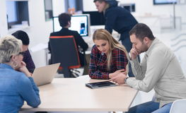 Startup business team on meeting at modern office Royalty Free Stock Images