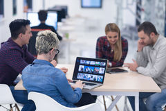 Startup business team on meeting at modern office Stock Photos