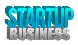 Startup business text Royalty Free Stock Photos