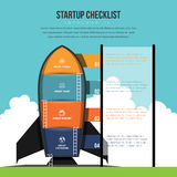 Startup Checklist Infographic Stock Image