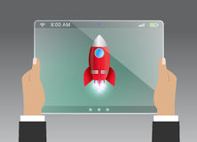 Startup concept flat illustration of new business Royalty Free Stock Photo