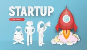 Startup Concept Paper Art stock photo