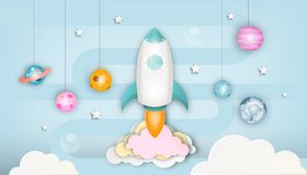 Startup Concept Paper Art stock image