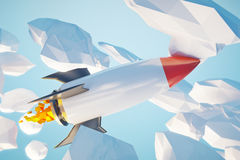 Startup concept rocket Royalty Free Stock Photos