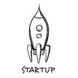 Startup concept with a spaceship Royalty Free Stock Image