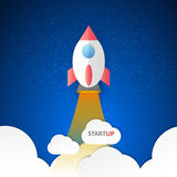 Startup conceptual illustration, abstract background startup business Stock Photo