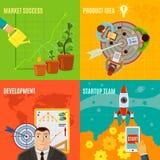 Startup Design Concept Set Royalty Free Stock Photo