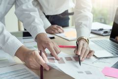 Startup Diversity Teamwork Brainstorming Planning Partnership Concept. stock photo