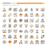 Startup Element Icons Stock Photo