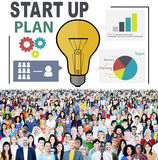 Startup Goals Growth Success Plan Business Concept Stock Photos