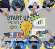 Startup Goals Growth Success Plan Business Concept Royalty Free Stock Photo