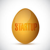 Startup golden egg illustration design Royalty Free Stock Image