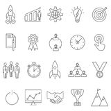 Startup icons set. Startup basic UI elements set. Linear startup icons set. Universal startup icon to use in web and mobile UI Stock Photo