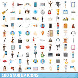100 startup icons set, cartoon style Royalty Free Stock Photography