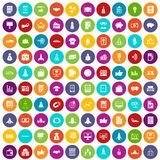 100 startup icons set color. 100 startup icons set in different colors circle isolated vector illustration stock illustration