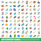 100 startup icons set, isometric 3d style. 100 startup icons set in isometric 3d style for any design vector illustration royalty free illustration