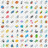 100 startup icons set, isometric 3d style. 100 startup icons set in isometric 3d style for any design vector illustration Stock Image