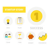Startup icons Royalty Free Stock Photo